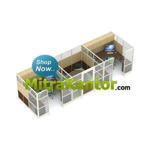 Jual Partisi Kantor 3 Ruangan Uno Premium Konfigurasi 27 B Murah
