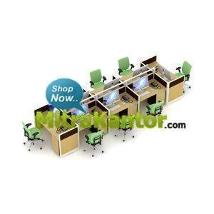 Partisi Kantor Murah, Partisi Kantor 8 Staff Uno Premium Konfigurasi 25 C