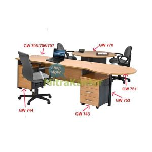 Meja Meeting Kantor Global GW 770 Murah, Meja Meeting Murah