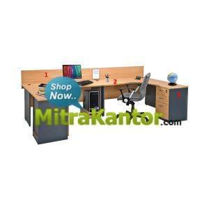 Partisi Murah, Partisi Kantor 2 Resepsionis Global Executive Workstation 3