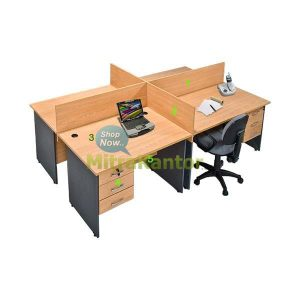 Partisi Kantor Murah, Partisi Kantor 4 Staff Global Executive Workstation 1