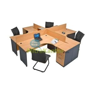 Partisi Kantor Murah, Partisi Kantor 4 Staff Global Executive Workstation 2